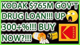 Eastman Kodak $765m Government Loan! Cheaper Medicine! Buy Now?! Kodak Stock News & Analysis!  Kodk