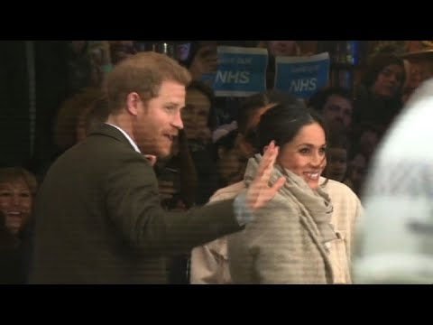 London: Prince Harry and fiancee Meghan visit a charity radio