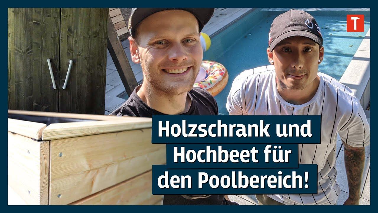 Zimmererlehrling Ju baut weiter: Hochbeet und Schrank mit Nerdy Timber! #poolstaffel5