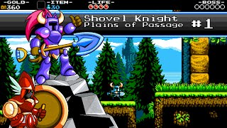 Shovel Knight (No Damage) - Part 01: Intro and Plains of Passage