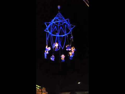 French acrobats in Birmingham