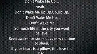 Chris Brown - Don't Wake Me Up LYRICS