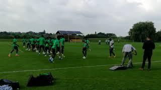 Super Eagles Train For England Friendly