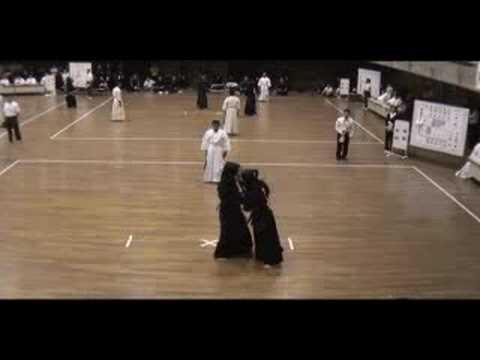 剣道二刀流の試合 (二刀)  剣道 二刀流 2008.7.30.no1