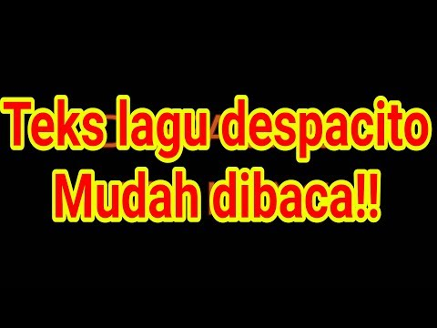 Despacito easy lirik karaoke tanpa vokal!