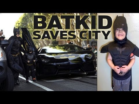 Batkid Saves San Francisco Gotham City - Leukimia kid Dream come true! AMAZING