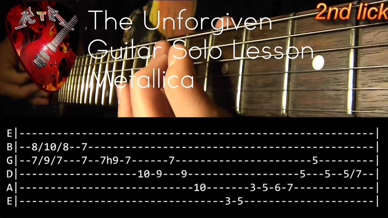 The Unforgiven Guitar Solo Lesson Metallica With Tabs Youtube