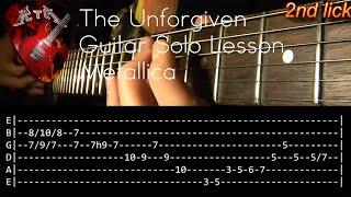 The Unforgiven Guitar Solo Lesson - Metallica (with tabs)