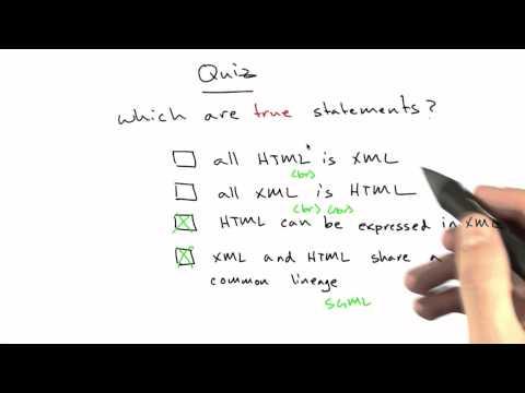 XML And HTML Solution - Web Development