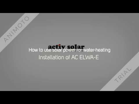 How to use solar power for water heating AC ELWA E