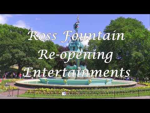 Ross Fountain Re-opening Entertainment in Princes Street Gardens