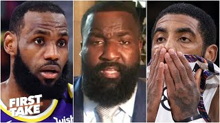 Kyrie Irving is SO jealous of LeBron - Kendrick Perkins   First Take