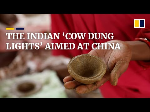 In India, 'cow dung lights' for Diwali festival become part of country's 'boycott China campaign