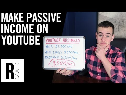 HOW TO EARN PASSIVE INCOME ON YOUTUBE 🤑 (How To Make $3,649 Each Month!)
