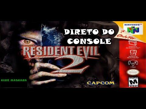 LIVE: Resident Evil 2 Claire Cenário A - Nintendo 64 (Direto do Console com  Expansion Pack)