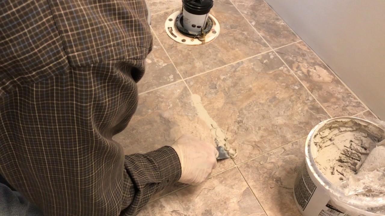 installing luxury vinyl tile step 5 grout the tiles