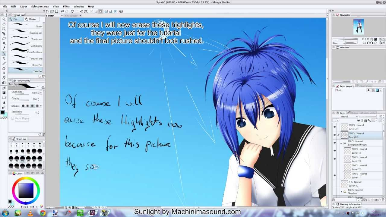 How to highlight anime hair 3 different ways youtube pmusecretfo Gallery