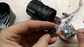 ремонт  камеры видео наблюдения