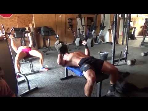 Rich Froning & Chyna Cho Workout - Dumbell Bench & Supinated Strict Pull-up
