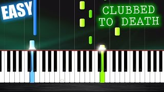 Clubbed To Death (The Matrix) - EASY Piano Tutorial by PlutaX Resimi