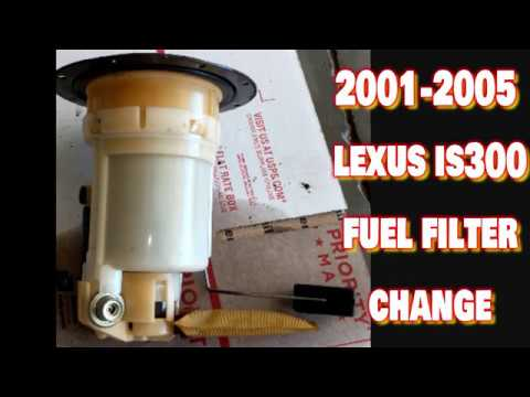 2001-2005 lexus is300 fuel filter exchange/replacement step by step