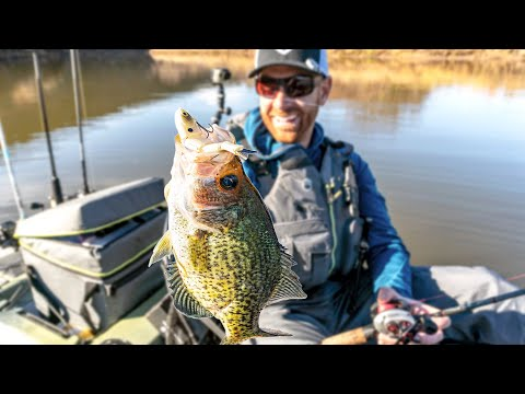 Kayak Fishing For Crappie, Bass & Striper In Shallow Rivers
