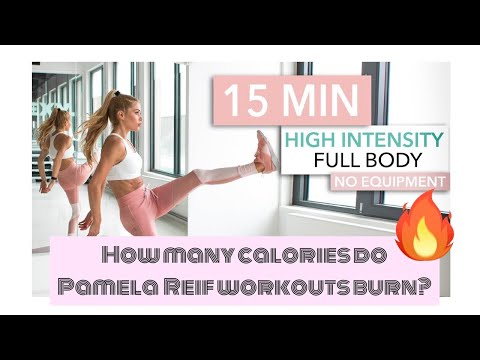 How many calories do Pamela Reif's workouts burn?