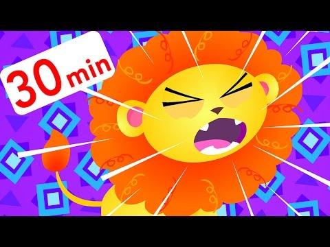 Little Roaring Lion, Apples and Bananas, Tail Song, Baby T-Rex | Kids Songs | by Little Angel