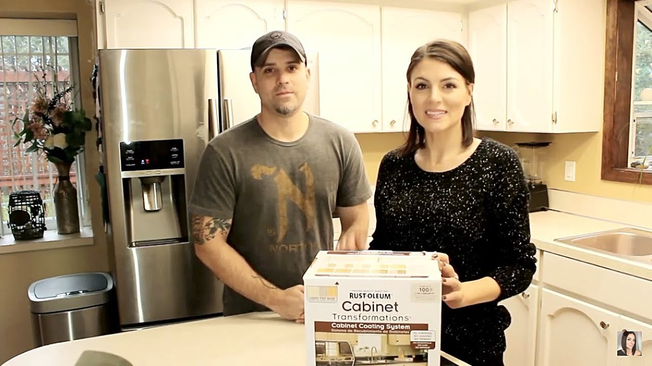 how to paint your kitchen cabinets - kitchen makeover for $200