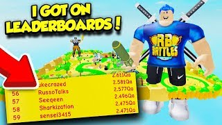 I GOT ON THE LEADERBOARDS IN LIFTING SIMULATOR REACHING FINAL STAGE MAX SIZE!! (Roblox)
