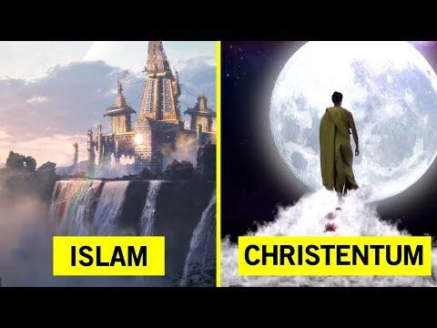 Unterschiede des Himmels von 6 Religionen!