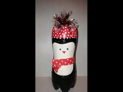 Пингвин из 5 литровых пластиковых бутылок своими руками