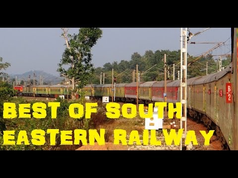 BEST of South Eastern Railway : HIGH SPEED Trains NATURE'S Treat