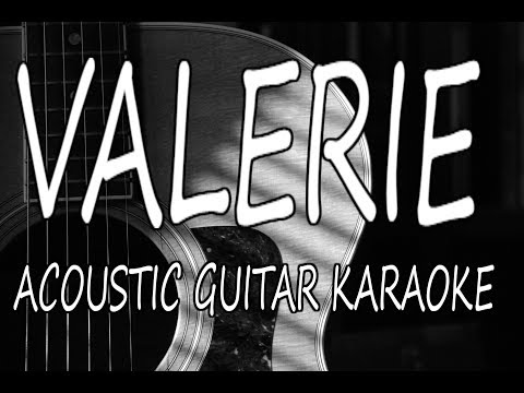 Amy Winehouse - Valerie (Acoustic Guitar Karaoke Lyrics on Screen)