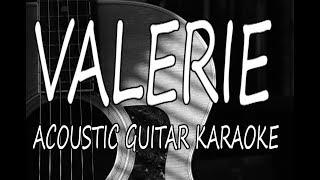 Amy Winehouse - Valerie (Acoustic Guitar Karaoke Lyrics on Screen)
