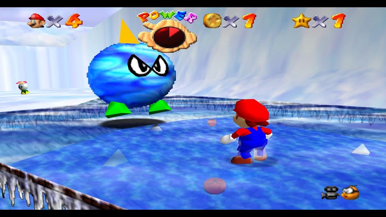 Super Mario 64 in 60 FPS Widescreen 4k resolution