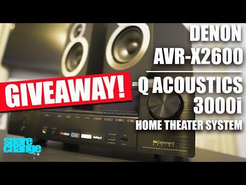 Denon AVR-X2600 Review | Q Acoustics 3000i Review | Home Theater GIVEAWAY!