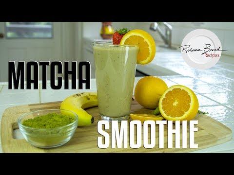 Strawberry Banana Matcha Smoothie Recipe