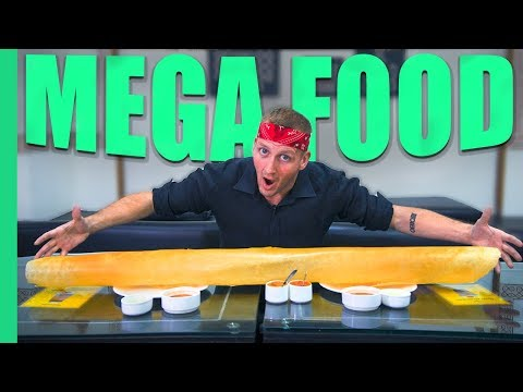 INDIAN MEGA FOOD! Record breaking Dosa, 250 Egg Omelette and more in Mumbai, India!