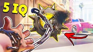 5 IQ ROADHOG HELPS THE ENEMY JUNKRAT! - Low IQ Plays & Funny Clips - Overwatch Moments Montage #261