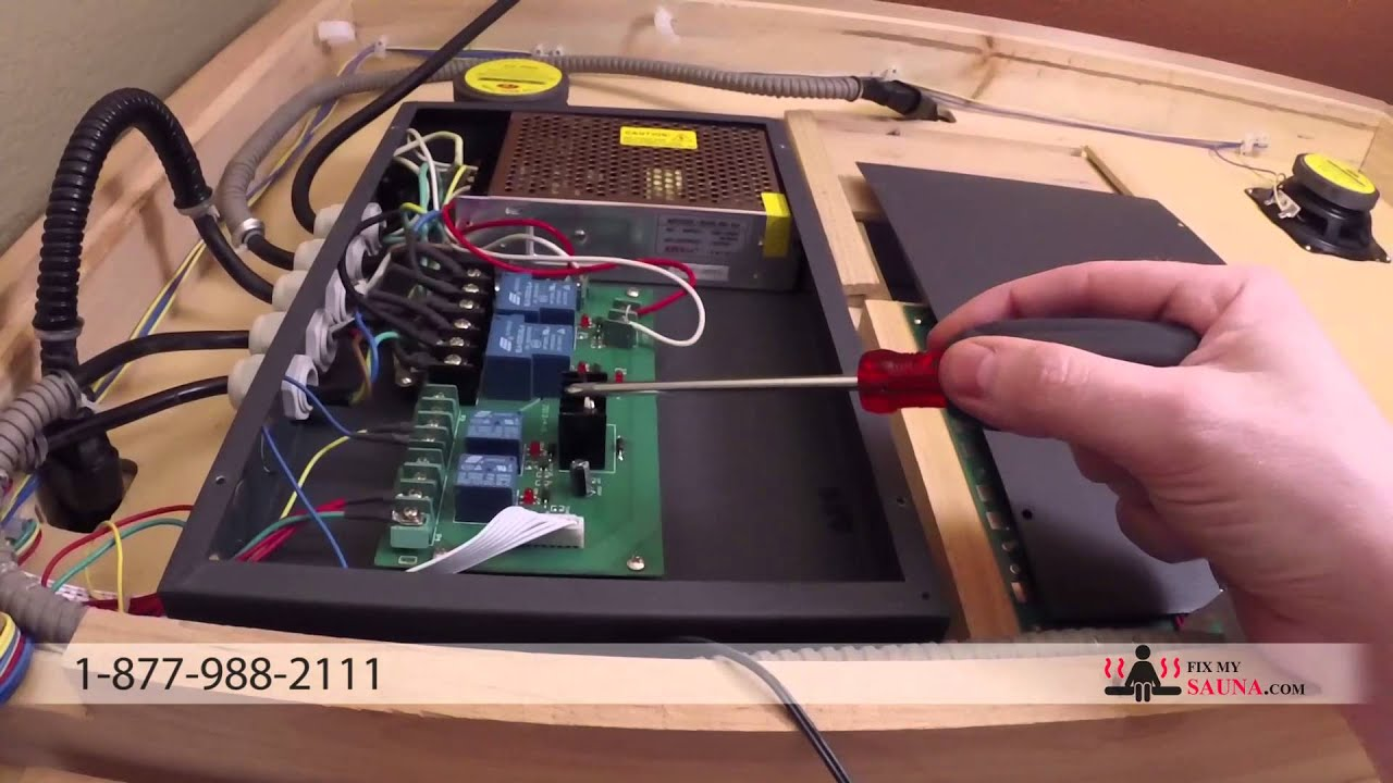 how to replace a sauna power supply [ 1280 x 720 Pixel ]