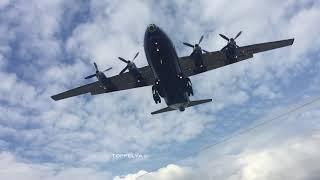 52 Years Old Smoky Antonov An-12 visiting Farnborough 2018 airshow