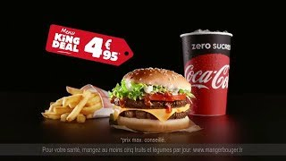 Pub BURGER KING Serge le comptable LA SUITE - Menu a 4,95€
