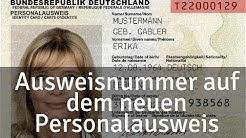 Hier findest du die Ausweisnummer auf dem neuen Personalausweis + Zugangsnummer