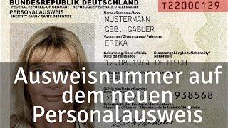 Prüfziffer alter personalausweis Personalausweis: Das