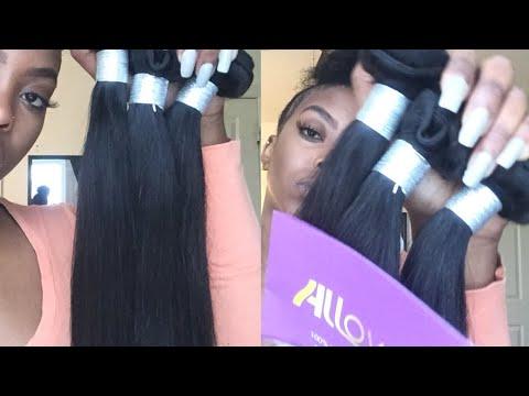 AFFORDABLE 10A STRAIGHT HAIR | ALLOVE VIRGIN HAIR UNBOXING & BLEACHING