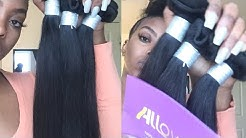 AFFORDABLE 10A STRAIGHT HAIR | ALLOVE VIRGIN HAIR UNBOXING & BLEACHING