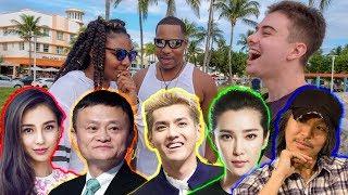 我们这次在迈阿密拿中国几个明星说英文的视频给美国人看,包括李冰冰、...