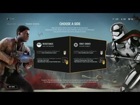 Star Wars Battlefront II - Crait DLC Select Faction Screen