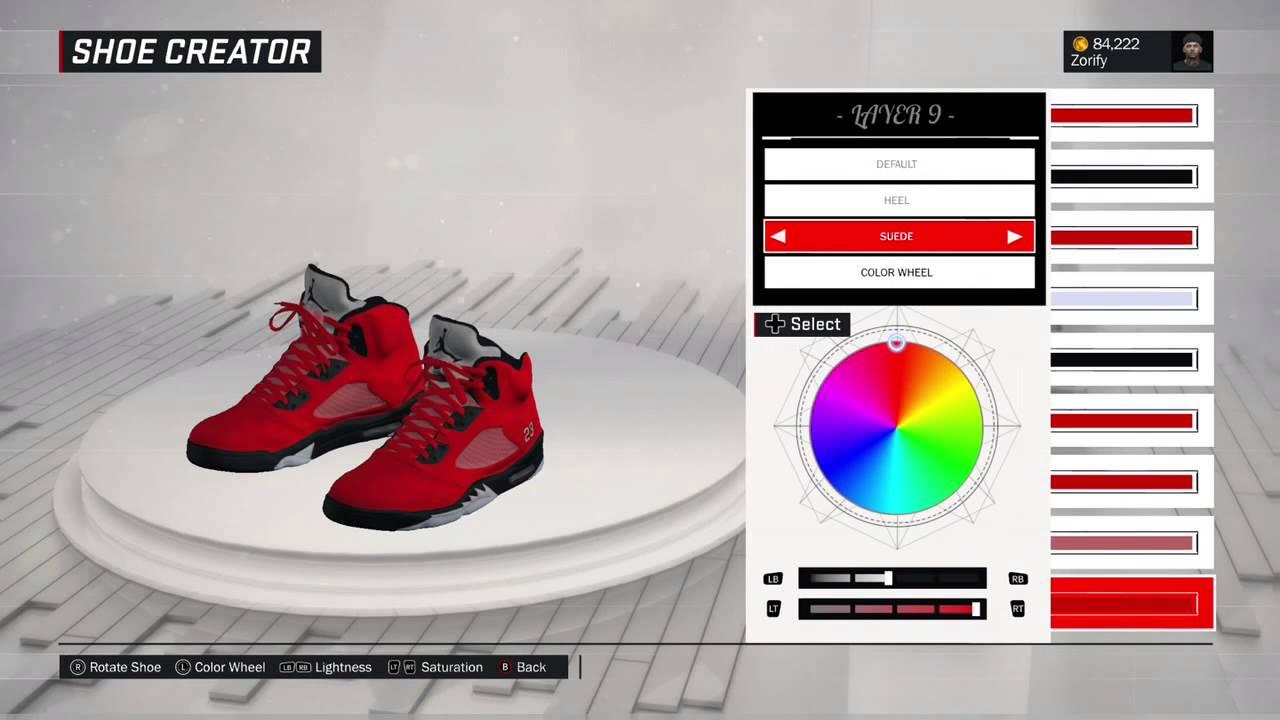buy online 7cab9 31951 NBA 2K17 Shoe Creator - Air Jordan 5